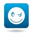 Eyewink suspicious emoticon icon simple style vector image