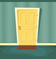 cartoon front door vector image