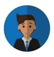 Cartoon young man with suit tie employee shadow vector image