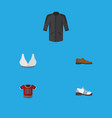 flat icon clothes set of uniform male footware t vector image