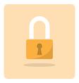 flat icon lock vector image
