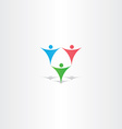 gymnastics people circus icon vector image