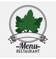 Menu restaurant ingredient vector image