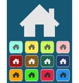 Real estate concept Small house - icon vector image