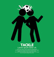 Tackle Soccer Sign vector image