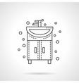 Washstand icon flat line design icon vector image