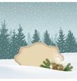 Retro vintage Christmas greeting card invitation vector image