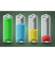 batteries with liquid charge vector image
