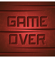 Message Game Over vector image vector image