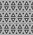 Triangles and diamonds seamless texture vector image