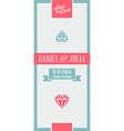Design Awesome Wedding Invitation Template Ideal vector image