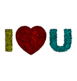 swirl text i love you vector image vector image