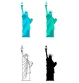 Statue of Liberty in New York City vector image vector image