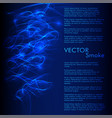 abstract smoke wavy blue background vector image