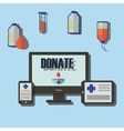 Blood donation medicine help hospital save life vector image