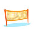 cartoon orange volleyball or badminton net vector image