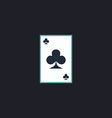 Clubs card computer symbol vector image