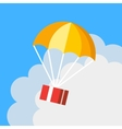 Delivery concept parachute icon Gift box flying vector image