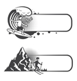 Extreme sports banners set vector image