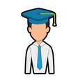 graduation student hat vector image