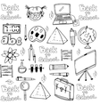 Hand draw school object in doodle vector image