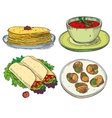 Popular world famous food international restaurant vector image