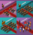 religion and people isometric design concept vector image
