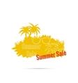 Summer sale design template vector image