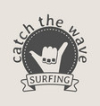 surfing logo symbol or icon design template with vector image