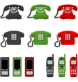 twelve phones vector image