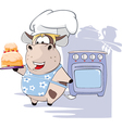 Gourmet Chef Cow Cartoon vector image