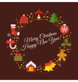 wine christmass card vector image
