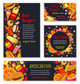 banner and posters for fast food meals vector image