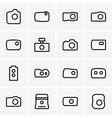 Photo cameras vector image vector image