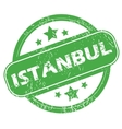 Istanbul green stamp vector image