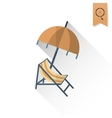 Summer and Beach Simple Flat Icon vector image