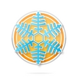 web december symbol blue color isolated vector image vector image