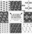 College american football team seamless pattern vector image