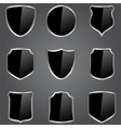 black shields vector image vector image