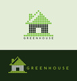 pixel house logo template vector image