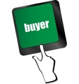 buyer button on keyboard key - business concept vector image vector image