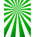 Green and white rays abstract circus poster vector image