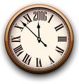 Happy 2016 year Vintage clock vector image