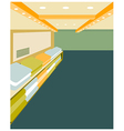 Modern design interior shop vector image