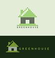pixel house logo template vector image