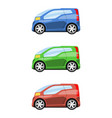 set of cars side view vector image