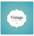 White vintage frame on blue background vector image