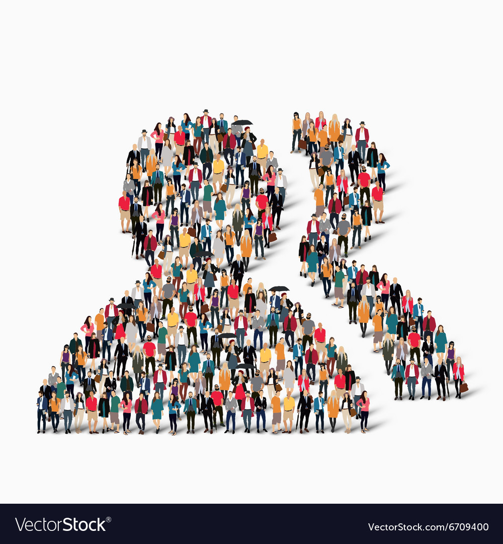 Group people shape man vector
