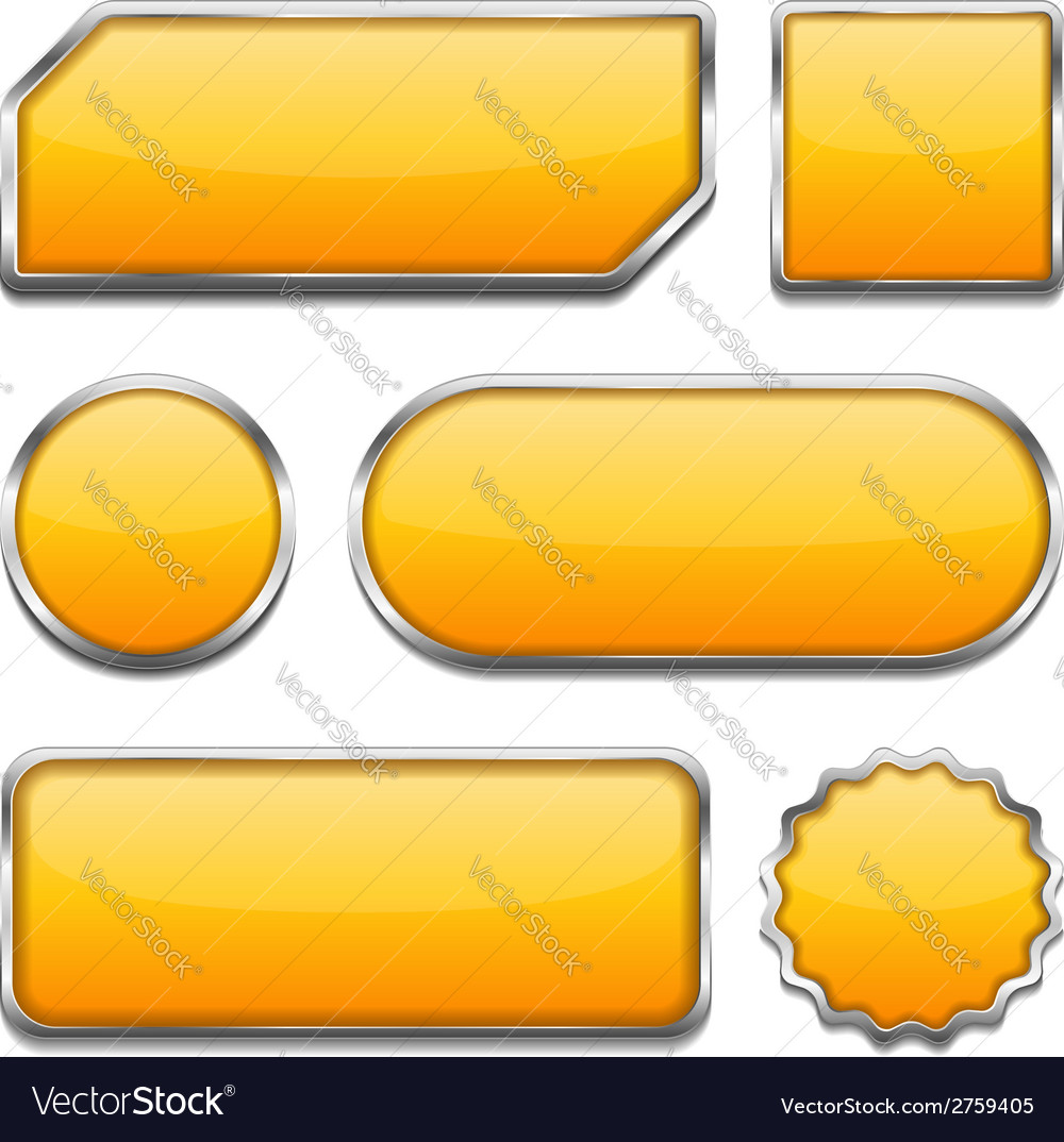 Orange buttons vector