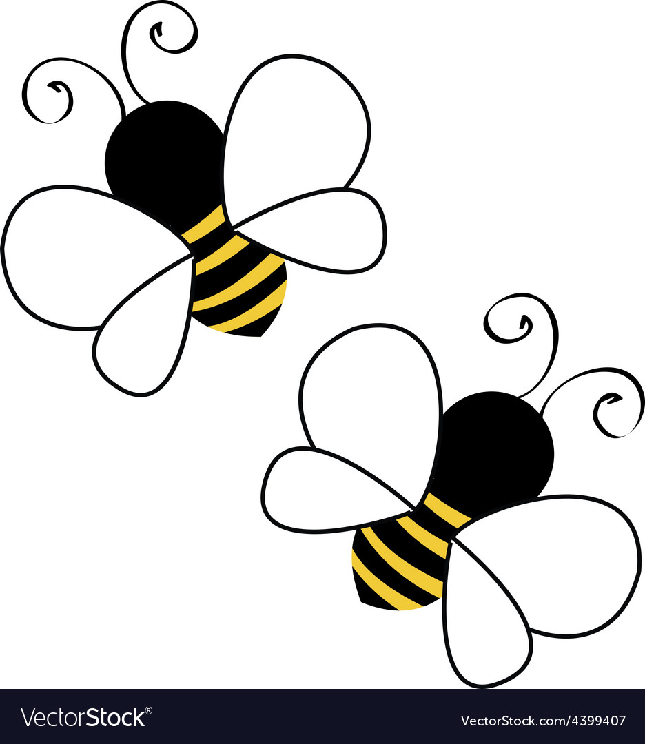 Bees flying vector